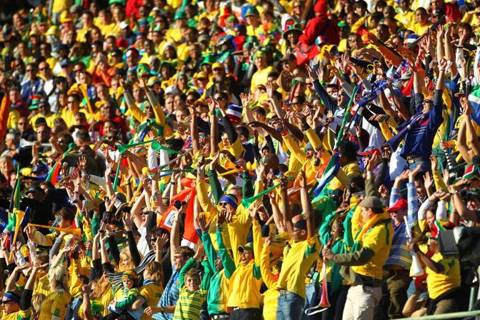 Francia-Sudafrica 1-2: tifosi sudafricani (Epa)