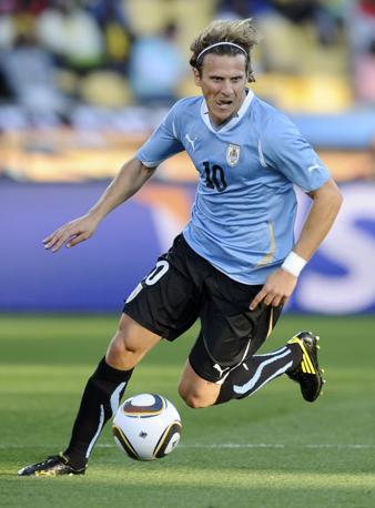 Messico-Uruguay 0-1: Diego Forlan (Reuters)