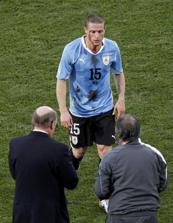 Messico-Uruguay 0-1: Perez infortunato (Reuters)