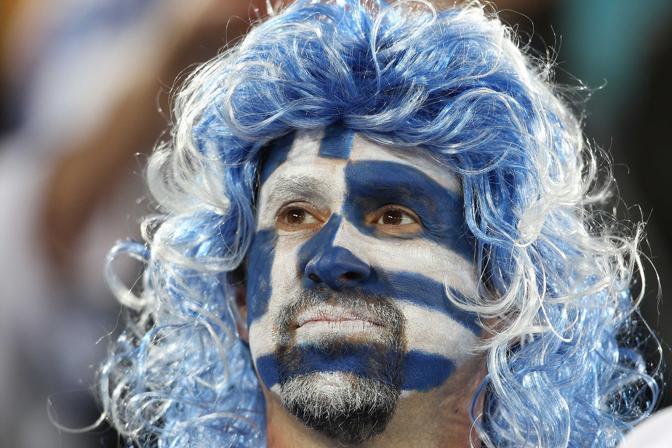 Grecia-Argentina 0-2: un tifoso (Lapresse)