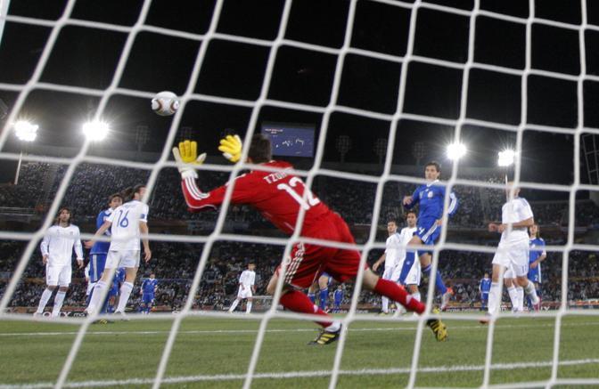 Grecia-Argentina 0-2: il gol di Demichelis (Ap)