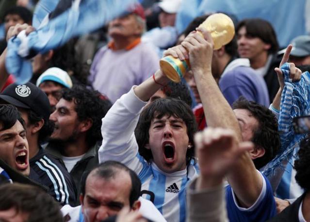 Grecia-Argentina 0-2: tifosi argentini (Reuters)