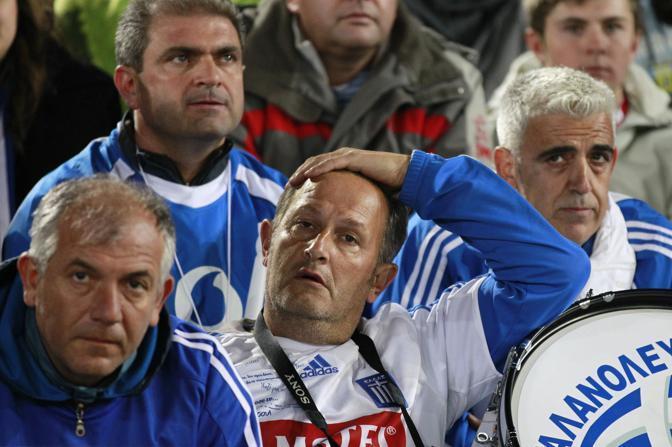 Grecia-Argentina 0-2: tifosi greci (Ap)