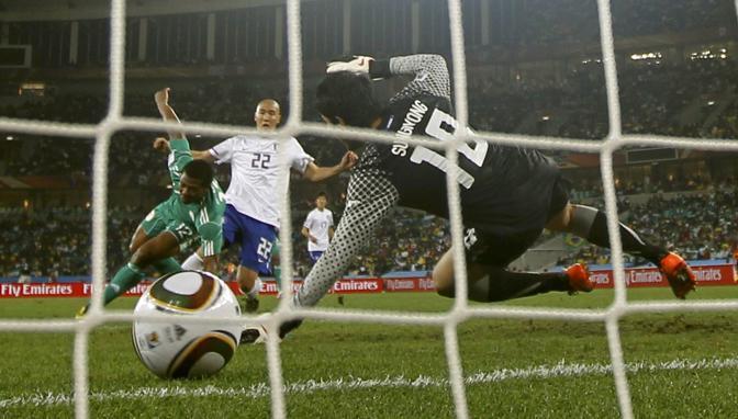 Nigeria-Corea del Sud 2-2: il gol di Kalu Uche (Reuters)