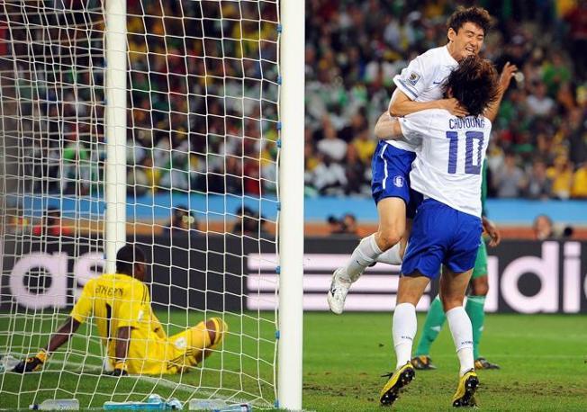 Nigeria-Corea del Sud 2-2: il gol di Lee Jung Soo (Epa)
