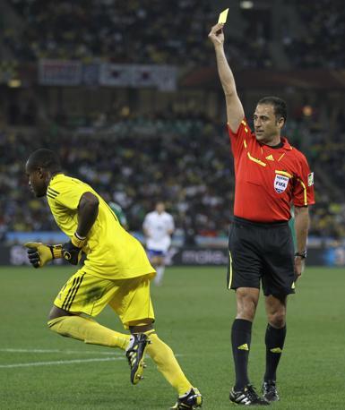 Nigeria-Corea del Sud 2-2: cartellino giallo al portiere nigeriano Enyeama (Ap)