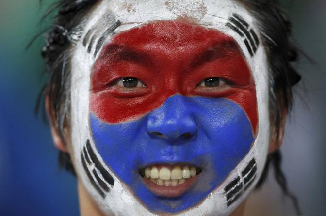 Nigeria-Corea del Sud 2-2: tifoso sudcoreano (Reuters)