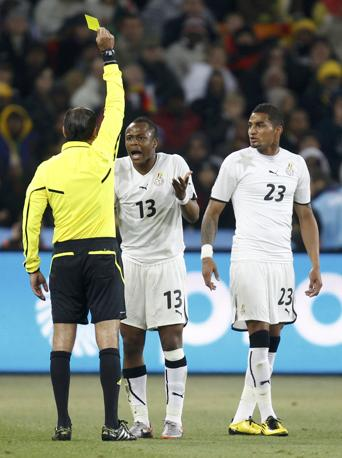 Ghana-Germania 0-1: cartellino giallo a Dede Ayew (Reuters)