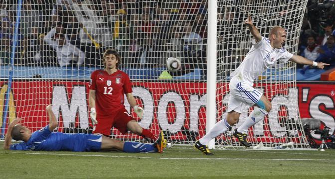 La gioia di Robert Vittek dopo il gol (Reuters)