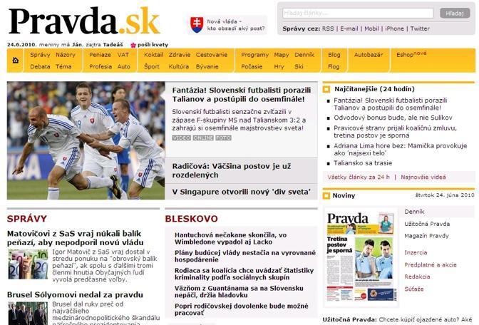 Il quotidiano slovacco Pravda