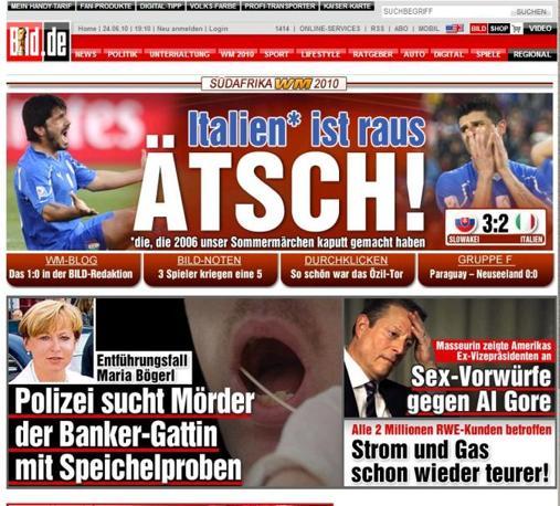 La tedesca Bild