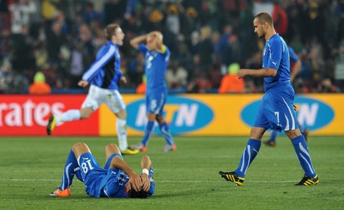 Pepe, Cannavaro sull sfondo e Quagliarella a terra (Ipp)