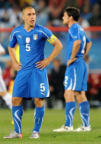 Cannavaro e Maggio (Epa)
