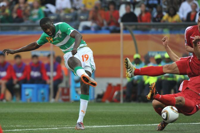 Corea del Nord-Costa d'Avorio: il gol di Yaya Toure (Afp)