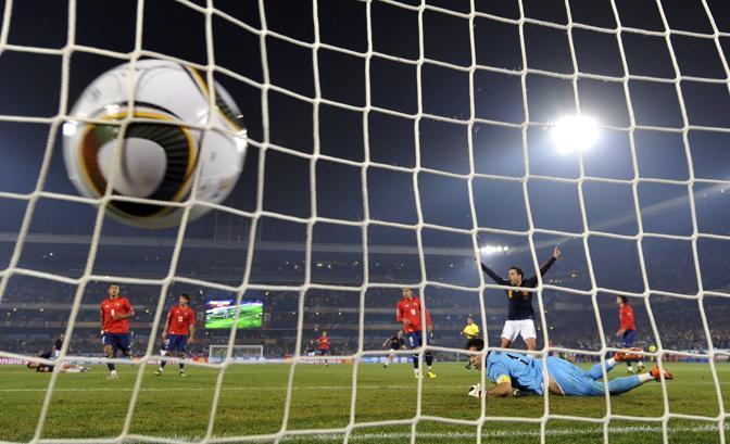 Cile-Spagna: David Villa porta in vantaggio la Spagna (Reuters)