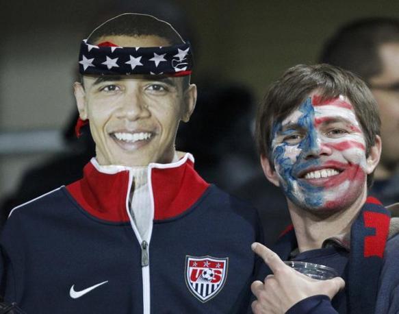 Anche «Obama» sostiene la squadra Usa (Reuters)