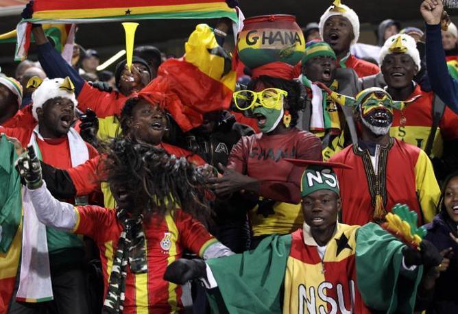 Supporter del Ghana (Ap)