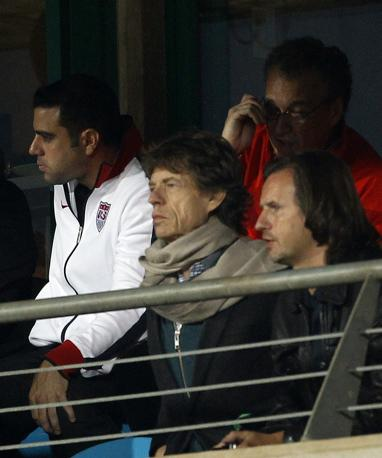 Mick Jagger in tribuna d'onore (Reuters)