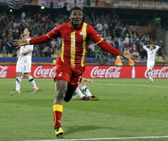 Gyan esulta dopo il gol (Ap)