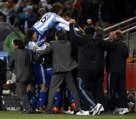 Argentina-Messico: Festa argentina (Reuters)