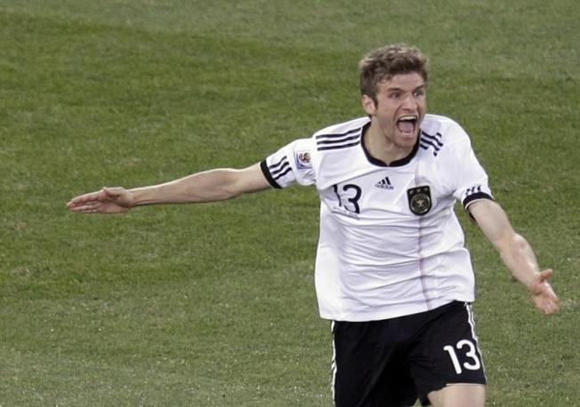 Germania-Inghilterra. Thomas Mueller  (Ap)