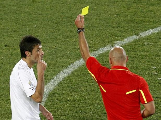 Brasile-Cile: cartellino giallo per il cileno Ismael Fuentes (reuters)