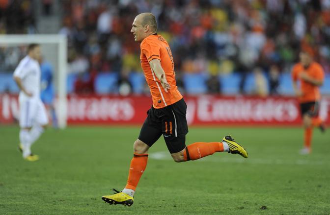 Olanda-Slovacchia: la gioia di Robben (Lapresse)