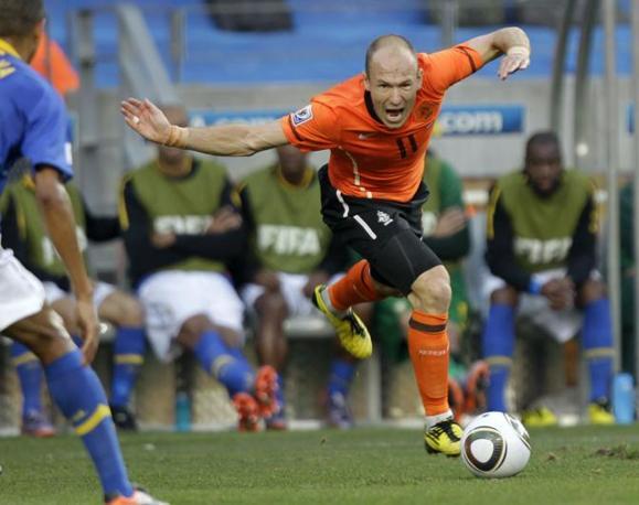 Olanda-Brasile 2-1: Robben (Ap)