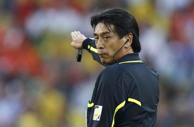 Olanda-Brasile 2-1: l'arbitro Nishimura (Reuters)