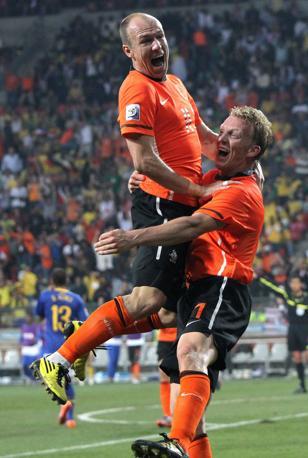 Olanda-Brasile 2-1: la festa degli Orange (Epa)