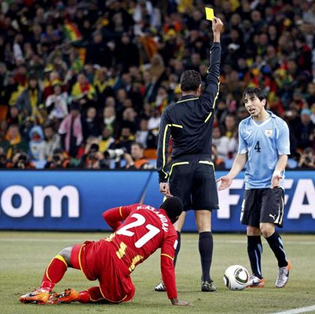Uruguay-Ghana 5-3: cartellino giallo per Fucile (Reuters)