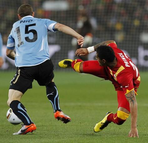 Uruguay-Ghana 5-3: Perez e Boateng (Ap)