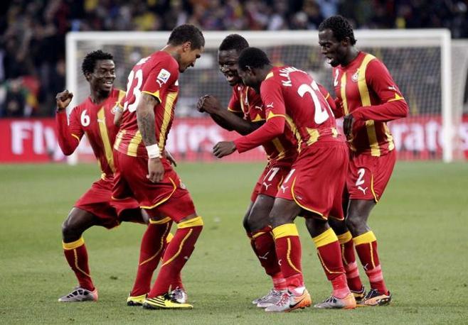 Uruguay-Ghana 5-3: i ghanesi festeggiano il temporaneo vantaggio (Reuters)