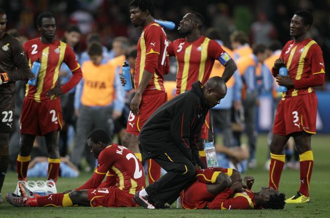 Uruguay-Ghana 5-3: riscaldamento prima dei supplementari (Ap)