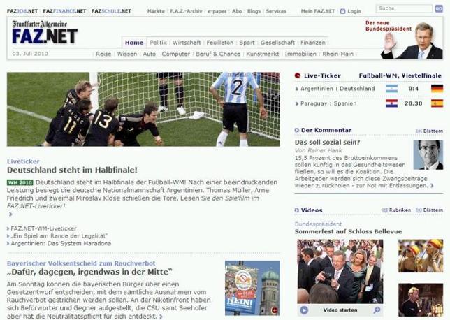 Ecco le reazioni a caldo dei siti dei media tedeschi e argentini dopo la partita di Città del Capo che ha sancito l'eliminazione della squadra di Maradona e l'accesso alle semifinali per i tedeschi