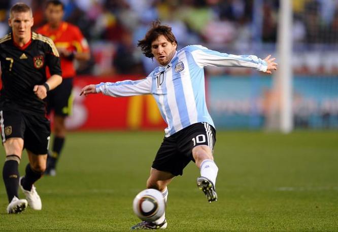 Messi in azione (LaPresse)