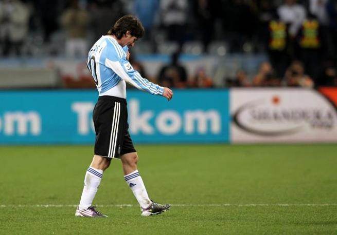 La delusione di Messi (Epa)