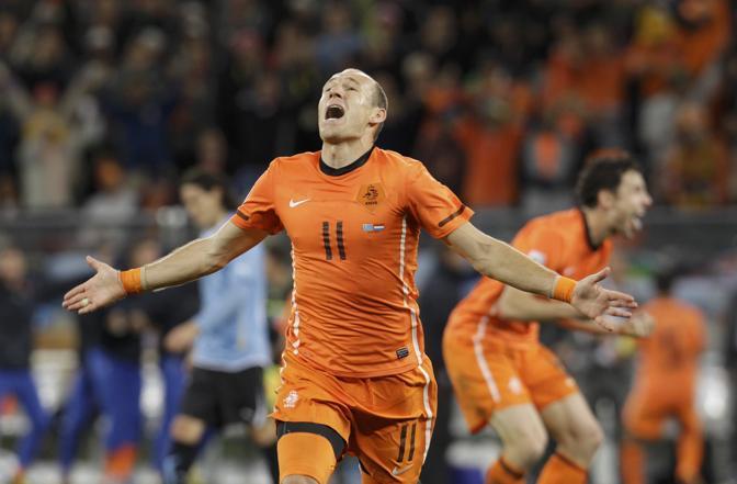 La gioia di Robben al secondo gol mondiale (Reuters)