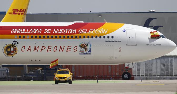 L'aereo dei campioni (Ap/Armando Franca)