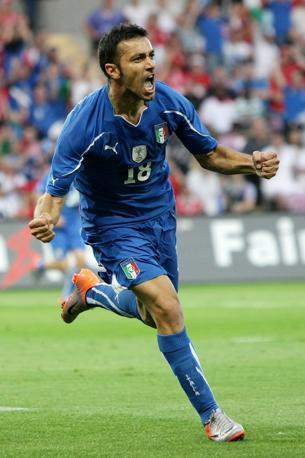 Quagliarella, autore del gol dell'Italia (Lapresse)