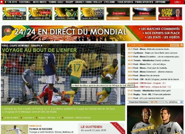 Gioco di parole per l'Equipe: anche se scritto in modo diverso, «bout» in francese significa goal