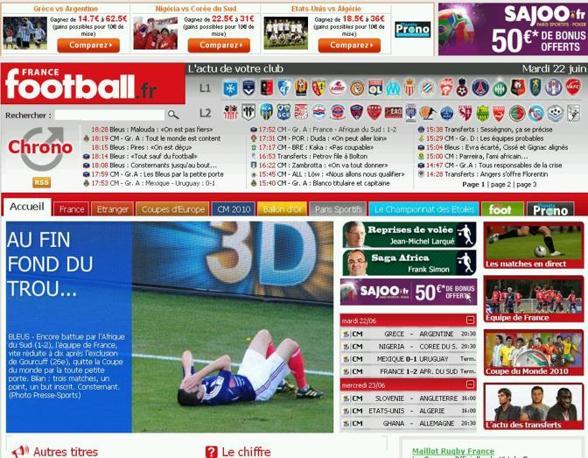 «Bilancio finale: tre partite, un punto, una sola rete e un posto da buoni ultimi nel girone», commenta così France football.