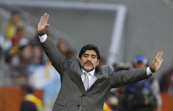 La gestualità di Maradona: uno spettacolo nello spettacolo (Reuters)