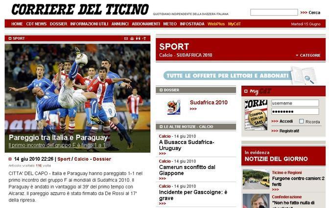 Il Corriere del Ticino (Svizzera)