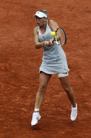 La tennista sconfitta dalla Schiavone, la danese Caroline Wozniacki (Reuters)