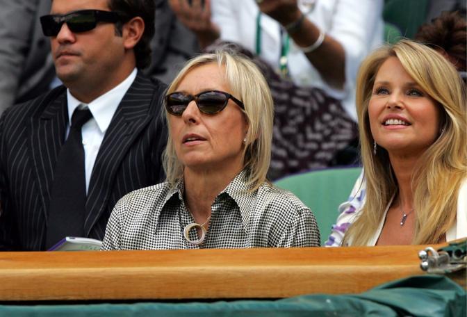 Sugli spalti anche Martina Navratilova (Epa)