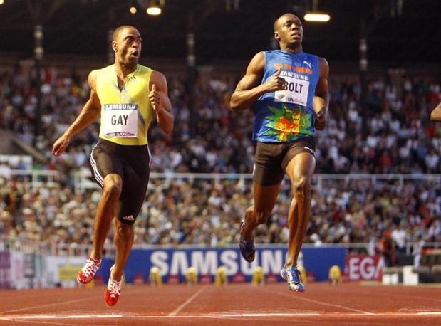 Bolt può essere stato disturbato anche dalle due false partenze della finale, ma Gay ha dato l'impressione di dominare la gala. «Sono contento», ha detto, «anche se Usain non è nelle migliori condizioni» (Ap/Probst)