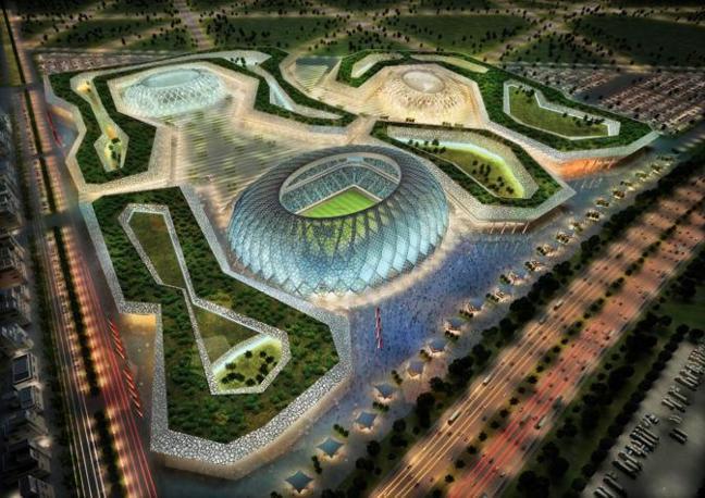 Il nuovo Al-Wakrah Stadium con una capacità di 45.120 posti (Epa)