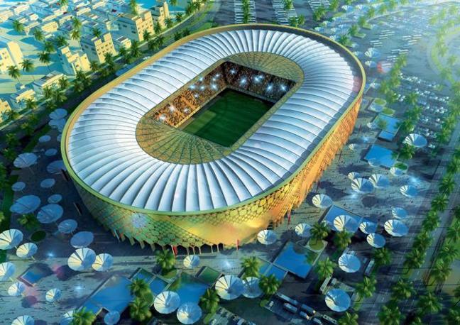 Il nuovo Qatar University Stadium di Doha sostituirà una struttura preesistente. Capienza: 43.520 spettatori (Epa)