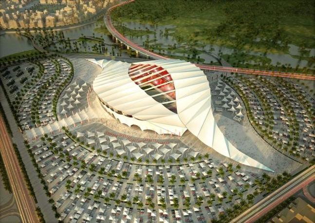 Il nuovo Al-Khor Stadium. Capienza: 45.330 posti (Epa)